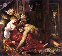Samson and Delilah in the National Gallery, London